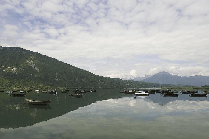 Il lago di Santa Croce a Farra d'Alpago