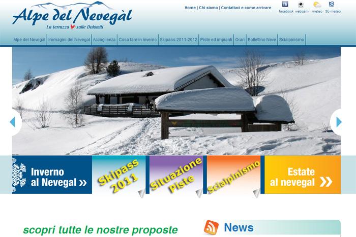 Alpe del Nevegal sito internet