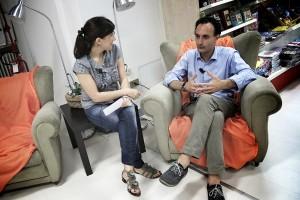 Il sindaco Jacopo Massaro durante una video intervista a cura di GOBelluno Notizie (Luca Mares)