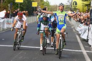 Una gara di ciclismo nel bellunese