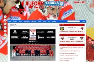 Il sito internet dell'Alleghe Hockey
