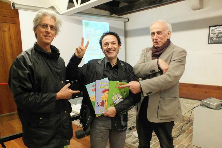 Da sx Roberto Totaro, Alberto Levis ed Eugenio Padovan