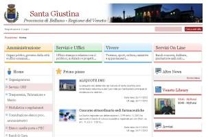 Il sito internet del Comune di Santa Giustina