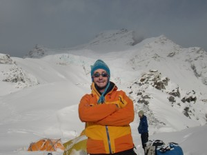 Fabio De Mas al campo 1 nel monte Cho Oyu