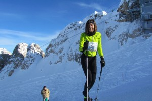 Emanuela Zaetta, terza claassificata alla Ciaspaltissima 2013