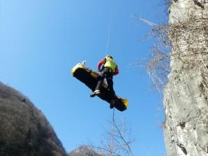 Soccorso Alpino recupero cavo elicottero