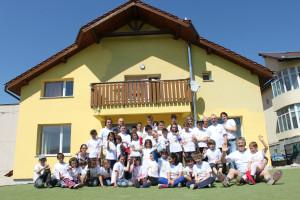I volontari dopo aver finito i lavori a Casa Pollicino (Enrico Collarin)