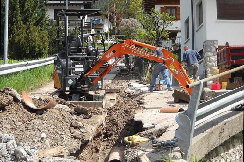BIM GSP lavori in corso fognatura rete idrica