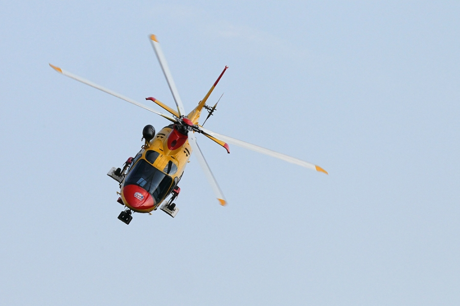 Elicottero Soccorso Alpino : Cade dal sentiero in località molin gobelluno notizie