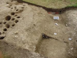 Lo scavo eseguito nel Passo di Monte Croce Comelico