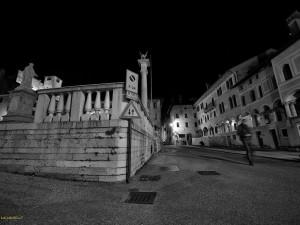 Una visuale della piazza a Feltre (L. Mares)