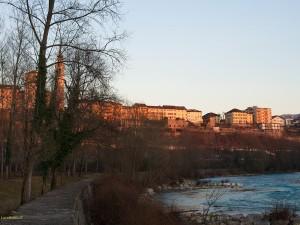 Il fiume Piave nel tratto di Lambioi a Belluno (Luca Mares)