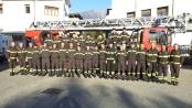 Il gruppo dei nuovi Vigili del fuoco volontari