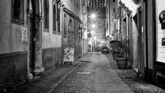 Il Natale a Belluno in via Mezzaterra