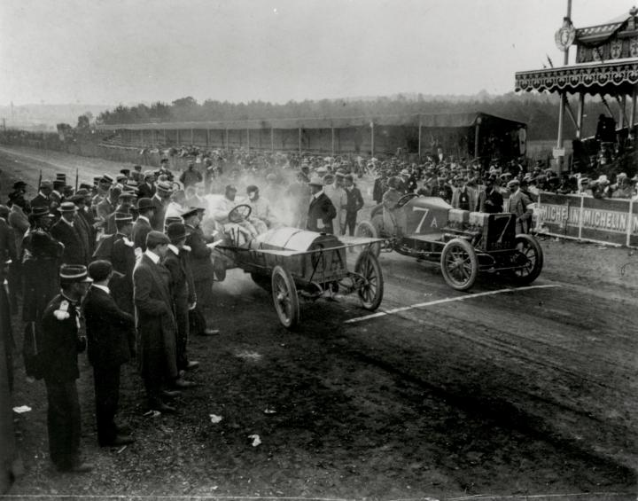 Jacques-Henry Lartigue, Depart de la course Grand Prix de l'A.C.F - 1906