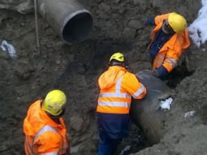 Riparazione perdita a Mas-Peron: i lavori sono in corso