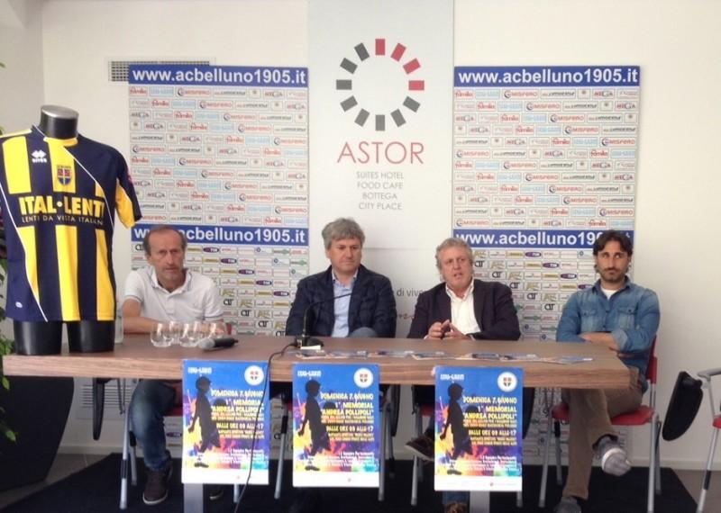 Presentazione staff calcio Ital-Lenti Belluno