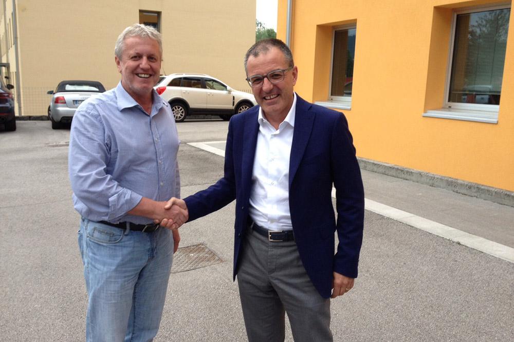 Livio Gallio con il presidente Gianpiero Perissinotto