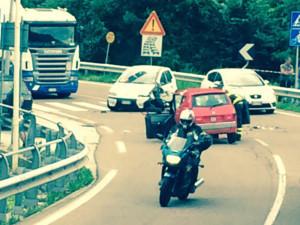 Le due vetture coinvolte nell'incidente