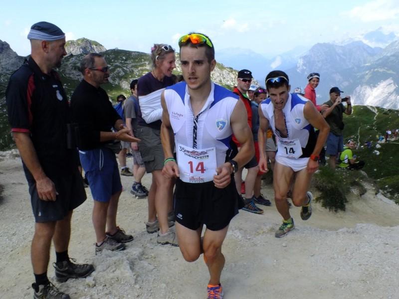 Michael Galassi e Mirko Romanin in testa a forcella Coldai nella scorsa edizione