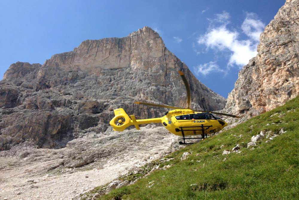 Il nuovo elicottero in dotazione al Suem