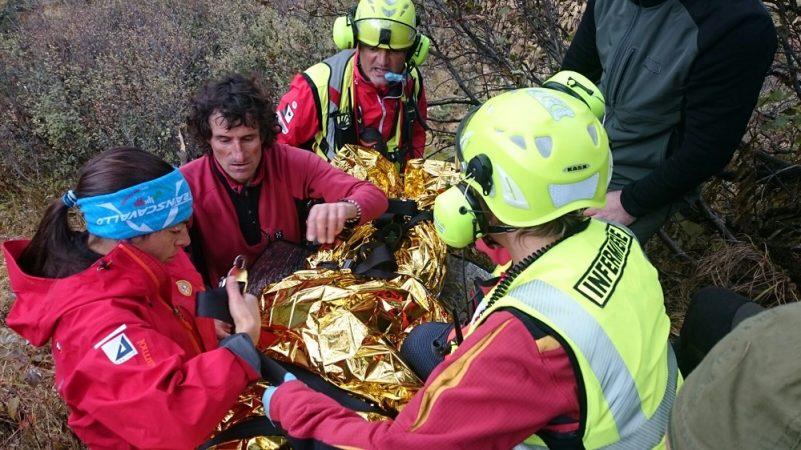 Soccorso alpino recupero persona infortunio