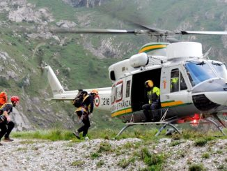 Soccorso alpino elicottero Guardia di Finanza